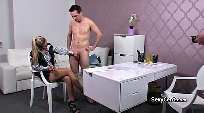 Czech, Office masturbation, Fake agent, Office stocking, Czech casting, Czech agent
