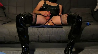 Boots, Boot, Huge dildo, Huge toy, Riding boots, Latex boots