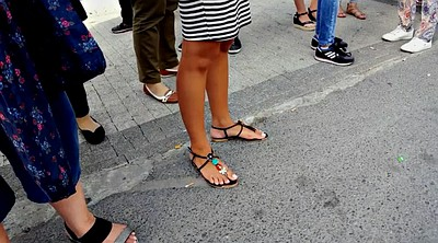 Candid, Candid feet, White foot