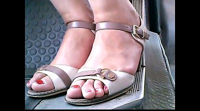 Mature feet, Mature foot, Candid feet