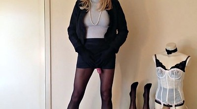 Stocking, Cock, Shemale nylon, Shemale stockings