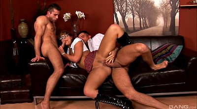 Leather, Ass lick, Threesomes, Model anal, Big ass dp
