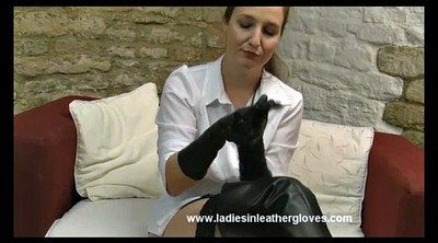 Leather, Gloves, Pull