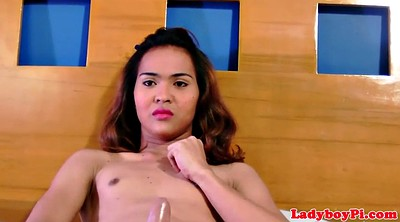 Ladyboy, Small cock, Huge shemale
