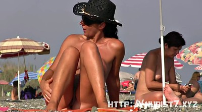 Shot, Nudist, Voyeur beach, Spying, Public beach