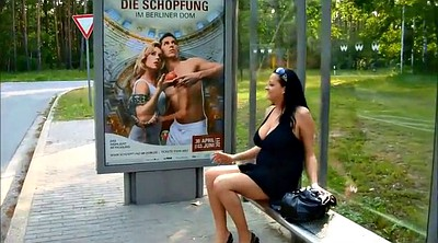 Public flashing, Chubby milf