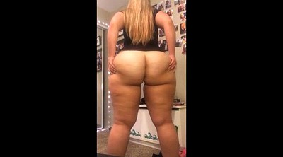 Bbw striptease, Public ass