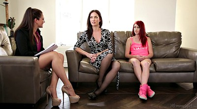 Families, Mom family, Lingerie mom, Lesbian stepdaughter, Instruction, Family lesbian