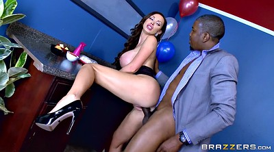 Office, Nikki benz, Brunette, Huge, Benz, Nikki benz black
