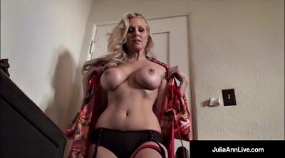 Julia ann, Julia, Smoking, Ann, Trying on panties, Try