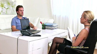Office, Agent, Stocking office, Stockings office, Fuck agent, Sexy stockings