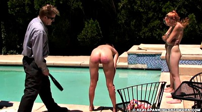 Spank, Three, Outdoor naked