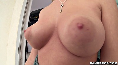 Huge tits, Water, Tease solo