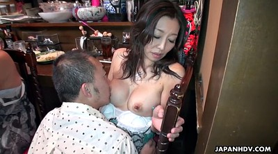 Mature japanese, Mature orgasm, Japanese milf, Restaurant, Mature sex party, Fishnet
