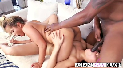 Interracial asian, Asian blonde, Interracial massage, Big black cock asian
