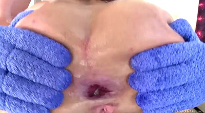 Gape, Cum in anal, Throat cum, Gagged, Cum in throat