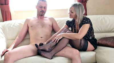 Cumshot, Foot job, Black feet, Feet fetish, Stocking foot, Milf lingerie