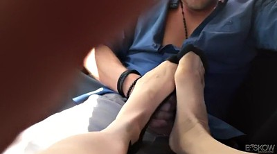 Footjob, Nadia, Bar, Milf footjob, Random, Hook