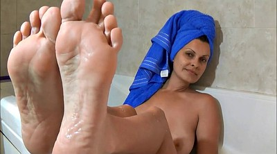 Mature, Bath, Mature feet, Feet mature, Feet fetish, Feet milf