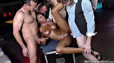 Black creampie, Swallowing, Creampie gangbang, Night club