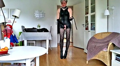 Heels, Sissy, Leather boots