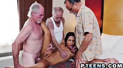 Old, Foursome, Old cock, Big guy