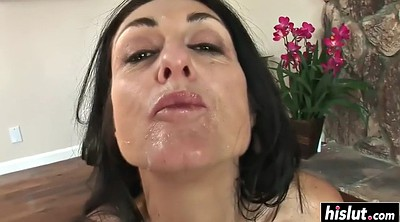 Facial, Gangbang interracial, Milf facial
