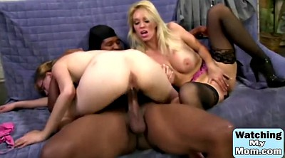 Daughter, Interracial threesome, Daughters, Busty milfs, Big tits threesome