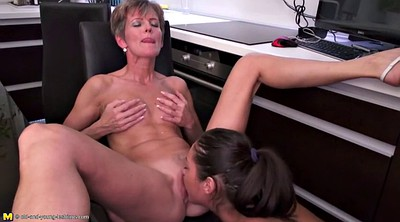 Young daughter, Mature mom, Mom old, Mom daughter, Lesbian mature