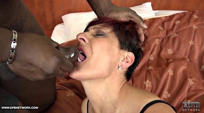 Interracial gangbang, Gay granny