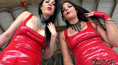 Latex, Red, Suit, Mature latex, Dirty talk