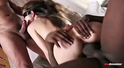 Mandingo, Riley reid, Riley reid threesome, Cuckold wife, Blindfolded, Wife black