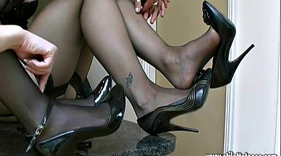 Shoes, Nylon foot, High, Nylon cock, High heels