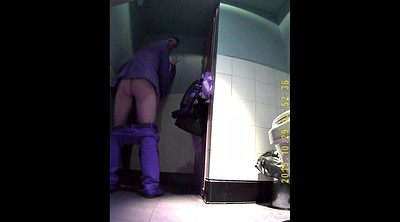 Toilet, Amateur couple, Hidden couple, Voyeur toilet, Hidden sex, Toilet voyeur