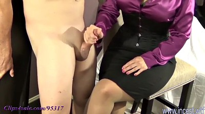 Mom, Leg, Mom handjob, Cum mom