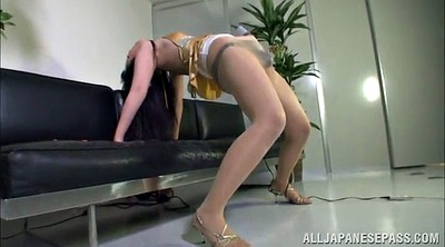 Big ass, Asian pantyhose, Pantyhose masturbation, Solo orgasm, Big ass solo, Pantyhose ass