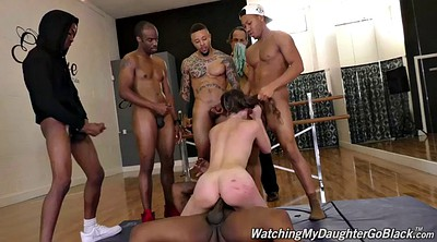Stepdad, Debt, Zoey, Pay, Pay debt, Cuckold gangbang