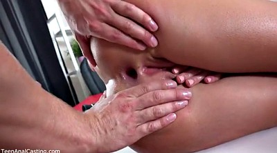 Granny, Casting girl, Anal casting