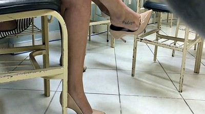 High heels, Milf feet, Dangling, Candid