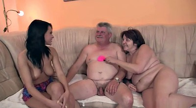 Granny group, Girlfriend, New, Mature group, Teen couple, Granny threesome