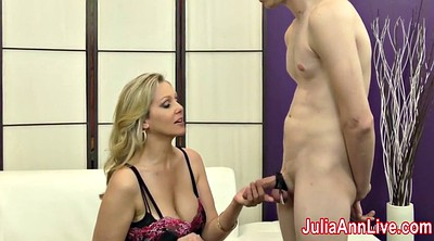 Julia ann, Slave, Anne, Foot slave, Stocking footjob, Footjob stocking