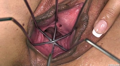 Gyno, Huge, Gaping pussy, Speculum, Huge toy, Pussy gaping