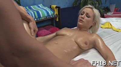 Oil, Cute girl, Old massage, Watching
