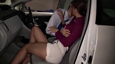 Yui, Car masturbation, Japanese suck