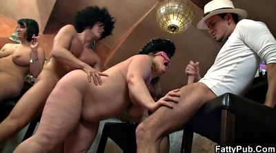 Bar, Bbw group, Orgy party