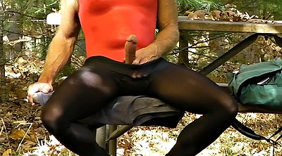 Public masturbation, Hard gay, Crossdress gay, Amateur crossdresser