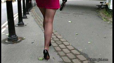 Street, Walking, Solo babe, Public feet