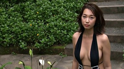One piece, Swimsuit, Piece, Black and asian