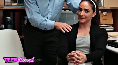 Small, Blackmail, Older, Piercing, Tit fuck, Blackmailed
