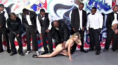 Blowbang, Gangbang interracial